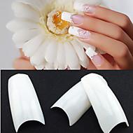 500 profesionálních bílé korejština standardy poloviny a falešné akrylové tipy nail art (50pcsx10 velikosti smíšený)