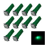 10X  Green T5 1 5050 LED Dashboard Licence  Plate Speed  Wedge Light Vehicle Car Blub D12V B001