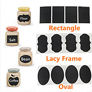 36Pcs Chalk Pen Chalkboard Sticker Labels Vinyl Kitchen Jar Decor Decals 5CM X 3.5CM