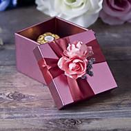 비 개인화 - 웨딩/기념일/브라이덜 샤워/베이비 샤워/성인식 & 스윗 16/생일 기프트 박스 ( 핑크 , 금속 )