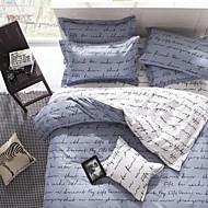 Bettbezug-Sets Neuartig 4 Stück Reaktivdruck 4-teilig (1 Bettbezug, 1 Bettlaken, 2 Kissenbezüge)