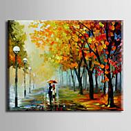 Ručně malované KrajinaModerní / evropský styl Jeden panel Plátno Hang-malované olejomalba For Home dekorace