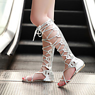 Women's Shoes Flat Heel Slingback/Gladiator Sandals Dress Silver/Gold