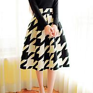 Women's Sexy Casual Print Cute Plus Sizes Micro Elastic Thin Knee-length Skirts (Knitwear)