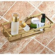 Koupelnové gadgety / Koš do sprchy Vintage měď Na ze´d 30cm*14cm*5.5cm Mosaz Vintage