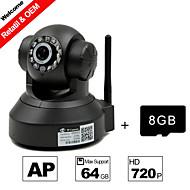 besteye® tarjeta de 8GB TF y la cámara ip hd 720p 1.0M píxeles ptz visión nocturna por infrarrojos wifi h.264 cable o wifi cámara inalámbrica