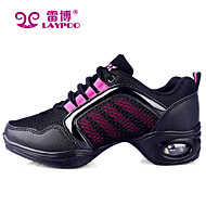 Non Customizable Women's Dance Shoes Dance Sneakers/Modern Fabric/Synthetic Chunky Heel Black/Gold/Multi-color/Other