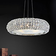 40W Chandelier ,  Modern/Contemporary Electroplated Feature for Crystal Crystal Living Room / Bedroom / Dining Room / Study Room/Office