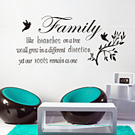 Wall Stickers Wall Decals Style Family Like Branch English Words & Quotes PVC Wall Stickers