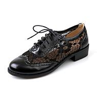 옥스퍼드 - 사무실 & 커리어 / 드레스 / 캐쥬얼 - 여성의 신발 - 둥근 앞코 - 레더렛 - 청키 굽 - 블랙 / 브라운 / 아몬드