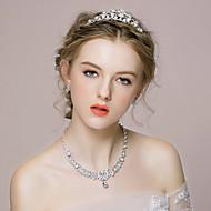 Women's Alloy/Rhinestone/Imitation Pearl Jewelry Set Rhinestone