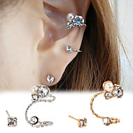 Shiny Crystal Ear Clip(Gold/Silver)(1Pr)