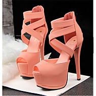Women's Shoes Leatherette Stiletto Heel Heels Sandals Casual Multi-color