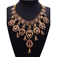 JQ šperky velké jméno zlato křišťálové střapec náhrdelník přívěsky