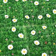 1kpl keinotekoinen nurmikko simulointi ruoho valkoiset kukat home / puutarha sisustus (25 * 25cm)