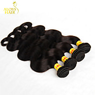 "4Pcs Lot 12""-28"" Malaysian Body Wave Virgin Human Hair Extensions/Weave Bundles Natural Black Color 1B# Tangle Free"