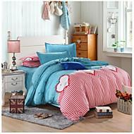 mooie roze / blauw beddengoed set van 4 stuks koningin / twin size meisje eerste keuze