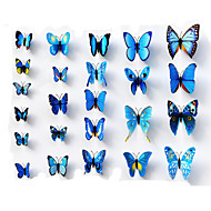 24pcs adesivi murali farfalla di simulazione 3D decalcomanie di arte