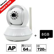 besteye® 8GB TF karet a HD720p H.264 P2P ip wifi kamera 1,0 m pixelů PTZ IR noční vidění kabelové nebo wifi wirless kamera
