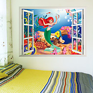 3D Wall Stickers Wall Decals, Mermaid PVC Wall Stickers