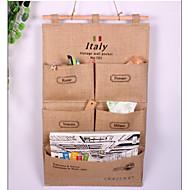 オーガナイザーバッグをぶら下げ保存袋のドアをぶら下げパーソナライズコットンやリネン5ポケット壁