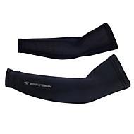braço aquecedores Respirável Resistente Raios Ultravioleta Elastano Cor Única