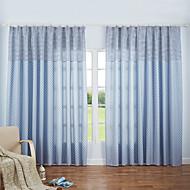 cozzy plus haute qualité de coton moitié ombrage vent contemporaine et contracté rideaux 2 pièces