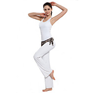 Dames Yoga Pakken / Trainingspak / 3/4 Tights Mouwloos Ademend / wicking Wit / Rose / Oranje Yoga S / M / L / Xl / Xxl / XXXL