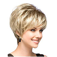 Perfect Classic Short Blonde Fashion Lady Synthetic Hair wig with Dark tail Free shipping