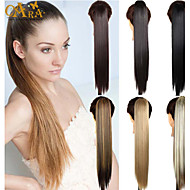 Black Human Hair Ponytail Straight Ponytail gram Medium(90g-120g) Quantity