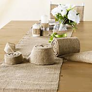 """decoración de la boda 4 """"(10 cm) de ancho 10 metros de arpillera tela de yute para la silla decoración faja"""