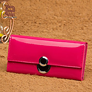 Handcee® The Most Popular Patent Woman PU Simple Wallet