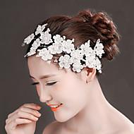 Bride Wedding White Chiffon Mesh Diamond Flower Noble Headwear