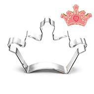 cortados forma de coroa cortadores de biscoito fruta moldes do rei / rainha de aço inoxidável