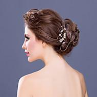 Bergkristal/Kristallen Vrouwen Helm Bruiloft/Speciale gelegenheden/Casual Haarkammen Bruiloft/Speciale gelegenheden/Casual 1 Stuk