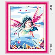 pittura diy olio digitale con massello di legno famiglia cornice pittura divertimento tutto da solo hua Xianzi 4059