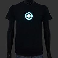 oplaadbare batterij inbegrepen licht leidden el t-shirt iron man 1 verstelbare geluid geactiveerd en meerdere flitsinstellingen