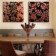 e-Home® venytetty kankaalle art lehti koriste maalaus sarja 2