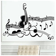 Guitar Music Wall Stickers Decal Mural Transfer Stencil Wall Stickers