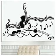 Hudba Samolepky na zeď Samolepky na stěnu Ozdobné samolepky na zeď,Vinyl Materiál Nastavitelná poloha Home dekorace Lepicí obraz na stěnu