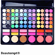 78 Colors 3in1 Professional 60 Eyeshadow 12 Lipstick 6 Blusher Makeup Cosmetic Palette with Mirror&2 Sponge Applicator