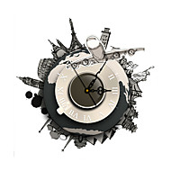 PAG®Modern 3D Effect Global Travel Wall Clock15.7*15.7 inch / 40*40cm
