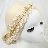 Mujer Niña de flor Diamantes Sintéticos Aleación Perla Artificial Celada-Boda Ocasión especial Bandas de cabeza 1 Pieza