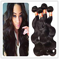 3pcs / שחור הרבה 8a תוספות שיער ברזילאי חבילות שיער ברזילאי בתולת שיער אדם מארג טבעית