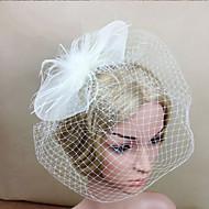 Damen Feder / Netz Kopfschmuck-Hochzeit / Besondere Anlässe Kopfschmuck / Blumen / Netzschleier 1 Stück