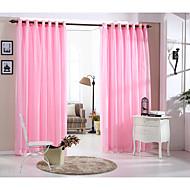 מדינה curtains® וילון וילון שכבה כפולה מוצקה ורוד פנל אחד