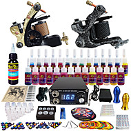 Solong Tattoo Complete Tattoo Kit 2 Pro Machine s 28 Inks Power Supply Needle Grips Tips