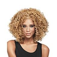nova sem cola mistura loira profunda moda feminina peruca de cabelo encaracolado curto para americano africano