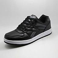 הליכה גברים נעליים דמוי עור שחור / לבן