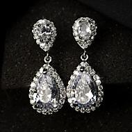 Women's European Style Fashion Elegant Alloy Zircon Drop Earrings